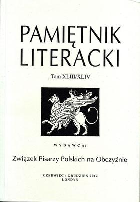 Poesie / Literarisches Tagebuch, S.7,12,198 - Verband Polnischer Exil-Schriftsteller, Bd.XLIII / XLIV, London, England 2012