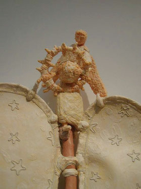 Detail of Archangel Raphael Healing the Wounded Earth (scullpture part)