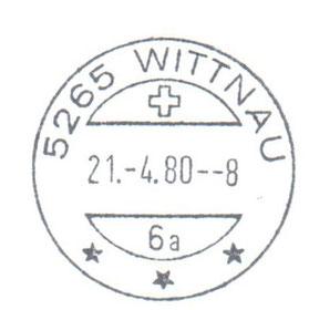Erstverwendung des Stempels mit Uhrzeit-Angabe