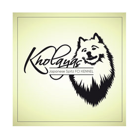creative logo ideas; japanese spitz fci kennel logo; japanese spitz kennel Kholayas germany; japanese spitz kennel logo design order; luxury kennel logo design order; japanese spitz germany; LA BEAUTY Studio Ukraina Ukraine;