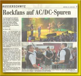 Zeitungsartikel: Rockkonzert Wangen 2013 (2 x klicken)