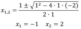 Einsetzen der Gleichung in die Mitternachtsformel