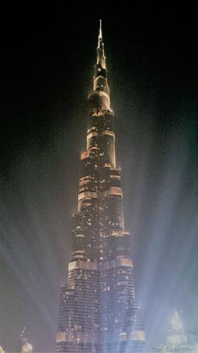 Burj Khalifa at night, Dubai