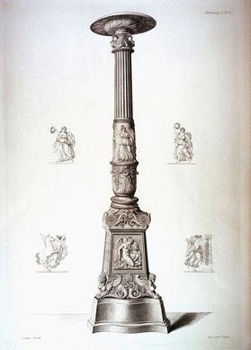 Kandelaber. Aus: Vorbilder für Fabrikanten und Handwerker, Abt. II, Taf. 1