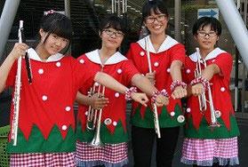 栃木県立真岡北陵高等学校 衣装作成班 「特産のとちおとめをイメージしました!」