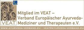 Mitglied im VEAT — Verband Europäischer Ayurveda-Mediziner und Therapeuten e.V.