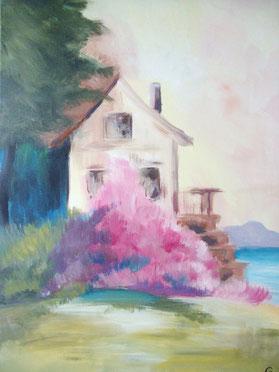 Galambos Rita, Acrylic on canvas  landscape painting, bildende Künstlerin Malerin Graphic, Illustrator, Painter, Designer, Artist, contemporary art, Vorarlberg Feldkirch Austria