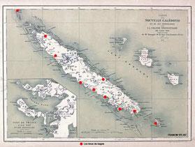 Carte 1774 de la nouvelle calédonie