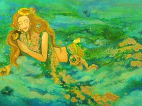 タイトル 未定 絵画 楽園のアート 立花雪 YukiTachibana
