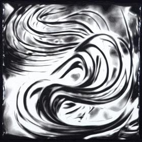 Black in White IV  (45X45cm)  2017