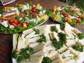 横浜市 中区 末吉町 パン工房 カメヤ イベント パーティープレート サンドイッチ