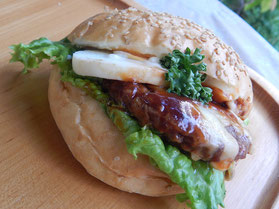 横浜市 中区 末吉町 パン工房 カメヤ 特製ハンバーガー