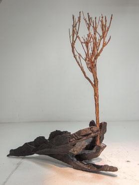 Staunen, Bronze, 2017, Höhe 32,8cm, Unikat