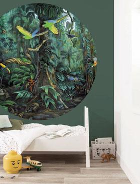 Urwald-Kinderzimmer mit Dschungeltapete