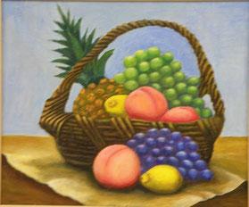 果物 油彩8号