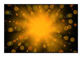 """Bildheizung """"Lichtshow"""" 450 Watt, 90x60cm, hier mit Rahmen schwarz glänzend, zum Vergrößern anklicken!"""