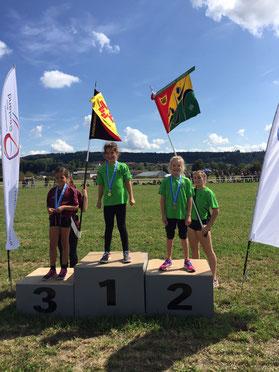 Einzel Kat. U9: Siegerin Jael und 2. Rang Mia - Herzliche Gratulation!