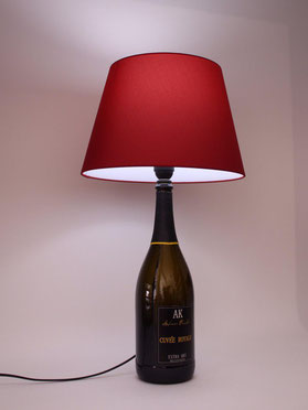 lampada con bottiglia magnum