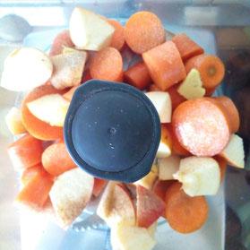 Karottensalat Vorbereitung