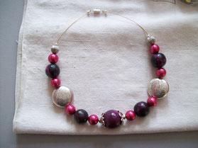 Collier ras de cou perles en fimo