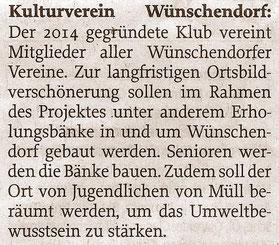 Bild: Wünschendorf Chronik 2020