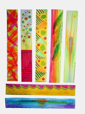 marques pages (verso) - aquarelle sur papier (plastifié) @B.Dupuis