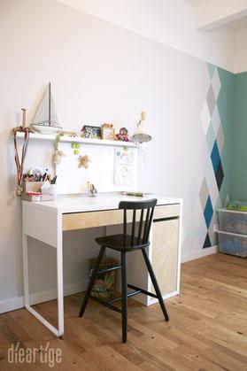 wandgestaltung rautenlook dieartige raum gestaltung. Black Bedroom Furniture Sets. Home Design Ideas