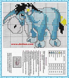 """Схема для вышивания """"Ослик"""" на сайте www.detiam.com"""