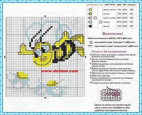 """Схема для вышивания """"Пчёлка"""" на сайте www.detiam.com"""
