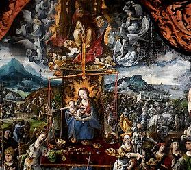 Maître d'Amiens, Au juste poids véritable balance, détail / Huile sur bois, 1519, Musée de Picardie, photo JH