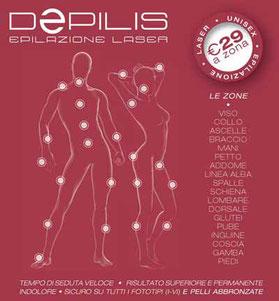 zone epilazione laser depilis