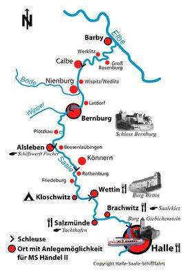 Rüdiger Ruwolt, Halle - Saale - Schifffahrt, MS Händel II, MS Händel 1, MS Händel, Reederei Arona, MS Händel 2, Riveufer, Schifffahrt Halle, Reederei Riedel