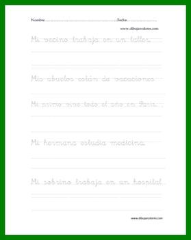 frases en caligrafía