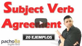20 ejemplos para comprender el uso de SUBJECT VERB AGREEEMENT – Explicación detallada.
