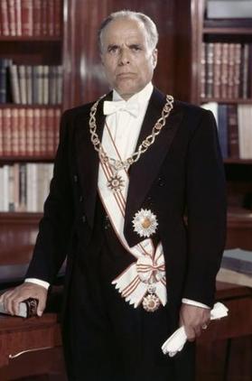 Portrait officiel de Habib Bourguiba en président (1960)
