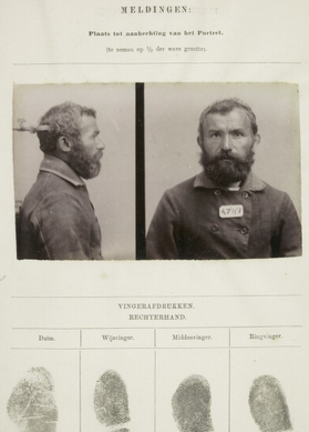 Signalementkaart Veenhuizen opname: 14-03-1857