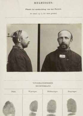 Signalementkaart Veenhuizen opname 16-07-1896