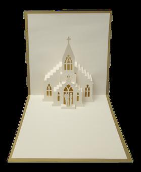 Faire-part Baptême - Carte kirigami Baptême - Carte Pop-Up Baptême