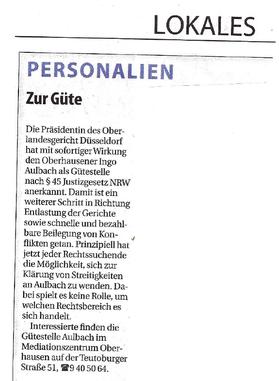 Wochenanzeiger am 9. April 2014