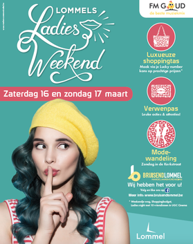Dirk Van Bun Communicatie & Vormgeving - Grafische vormgeving - Lommel - reclame - publiciteit - Grafisch ontwerp - Affiche Bruisend lommel - Ladie Weekend