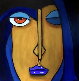 THE BLUE ONE 50 x 50 Acryl   SOLD / VERKAUFT