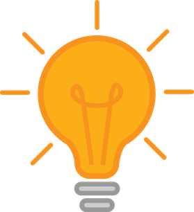 Illustration der Konzeption. eine Glühbirne.