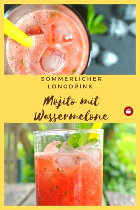 Mojito mit #Wassermelone #cocktail #minze #pfefferminz #thermomixrezept #orgaBine