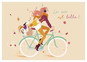 Carte postale illustrée par Audrey BUSSI