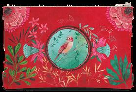 Trousse pochette médaillon illustrée par Izou