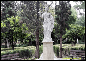 La Diosa Flora  en el Jardín de Monforte de Valencia.
