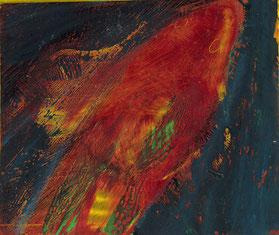 Goldfische, 2020, ca. 15 x 12 cm, Mischtechnik