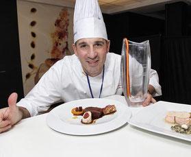 ボキューズ・ドール2014-15スペイン代表シェフのアルベルト・モレノ氏 (www.diariodegastronomia.com)