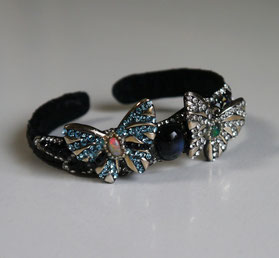 Butterfly Bangle with Opal