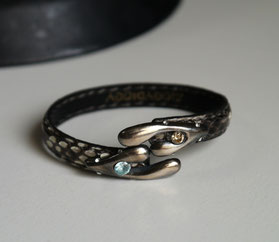 Silver hands & Diamond Bangle